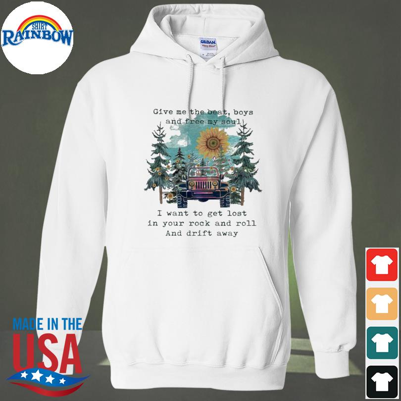 Official Sunflower and Jeep give me the beat boys and free my son s hoodie